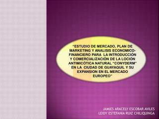 JAMIES ARACELY ESCOBAR AVILES LEIDY ESTEFANIA RUIZ CHILIQUINGA