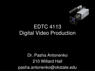EDTC 4113 Digital Video Production