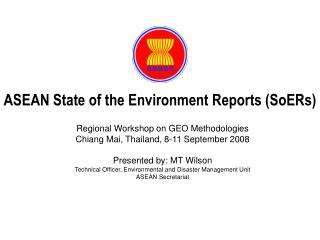 ASEAN State of the Environment Reports (SoERs)