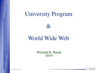 University Program & World Wide Web