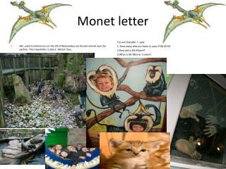 Monet letter