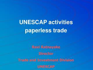 UNESCAP activities paperless trade