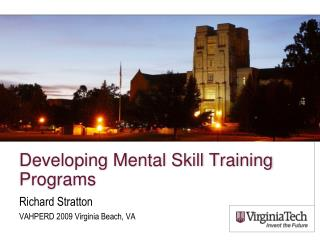 Developing Mental Skill Training Programs