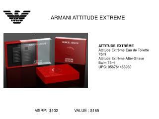 ATTITUDE EXTRÊME Attitude Extrême Eau de Toilette 75ml Attitude Extrême After-Shave Balm 75ml