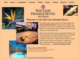 Check out the Red Lion Hanalei Hotel Web Site