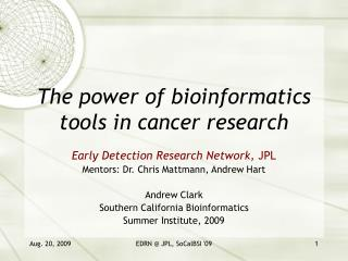 The power of bioinformatics tools in cancer research