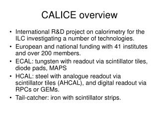 CALICE overview