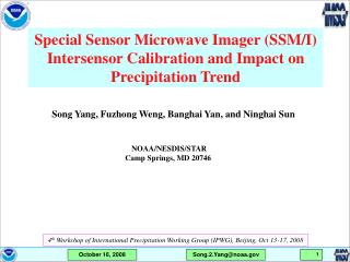 Special Sensor Microwave Imager (SSM/I) Intersensor Calibration and Impact on Precipitation Trend