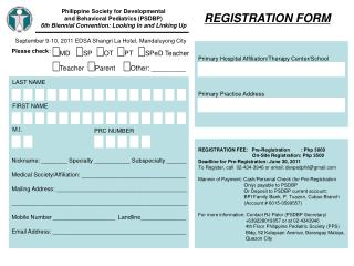 Philippine Society for Developmental  and Behavioral Pediatrics (PSDBP)