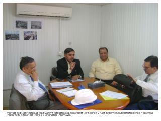 SHRI O P BHUTANI & SHRI K K MEHROTRA IN DISCUSSION FOR SGPP ,CHAMCHAMAL SITE