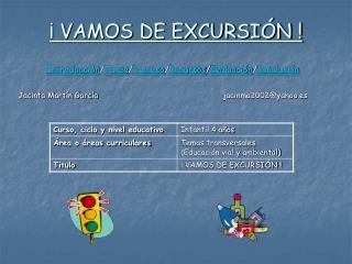 VAMOS DE EXCURSI N