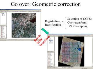Go over: Geometric correction