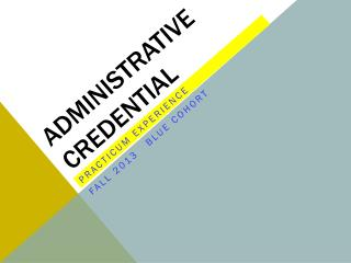 Administrative Credential