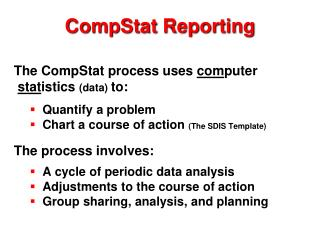 CompStat Reporting