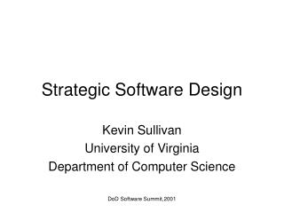 Strategic Software Design