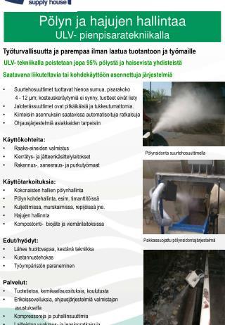 Työturvallisuutta  ja  parempaa ilman laatua tuotantoon  ja  työmaille