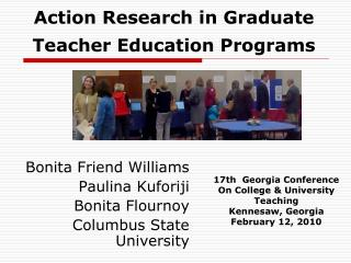 Action Research in Graduate Teacher Education Programs