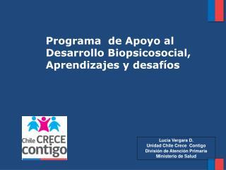 Programa  de Apoyo al Desarrollo Biopsicosocial, Aprendizajes y desaf�os