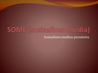 SOME (sosiaalinen media)