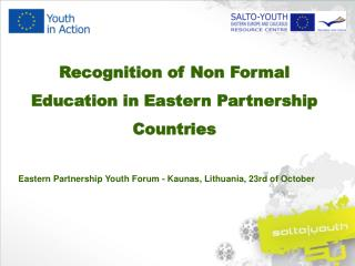 Recognition  of Non  Formal Education in Eastern Partnership Countries