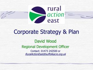 Corporate Strategy & Plan
