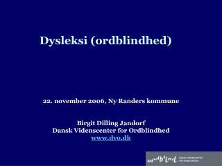 Dysleksi ordblindhed