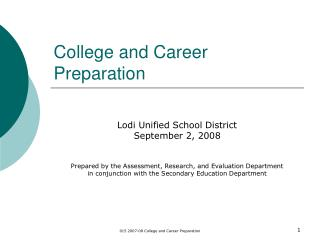 College and Career Preparation