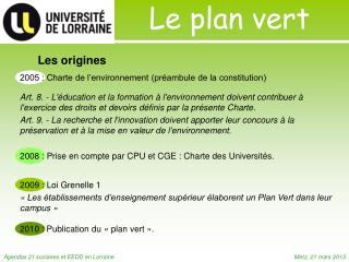 Le plan vert