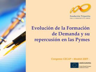 Evolución de la Formación de Demanda y su repercusión en las Pymes Congreso CECAP – Madrid 2009 -
