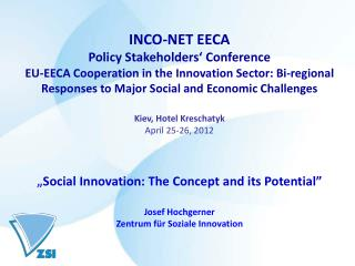 INCO-NET EECA Policy Stakeholders' Conference