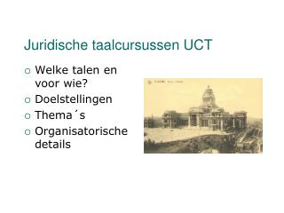 Juridisch e taalcursussen UCT