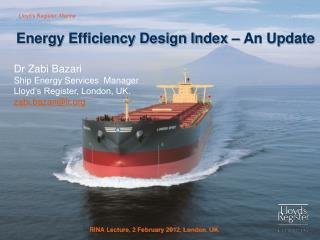 Energy Efficiency Design Index – An Update