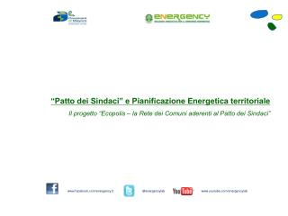 """""""Patto dei Sindaci"""" e Pianificazione Energetica territoriale"""
