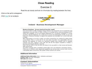 Close Reading Exercise 3
