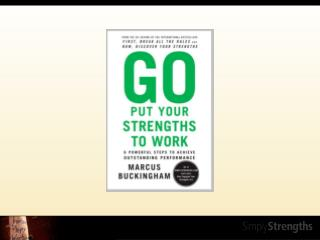"""""""Build on their strengths, and manage around their weaknesses."""""""