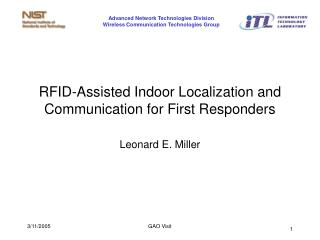 RFID-Assisted Indoor Localization and Communication for First Responders