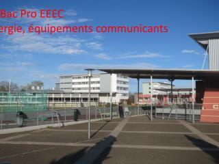 Bac Pro EEEC Électrotechnique, énergie, équipements communicants
