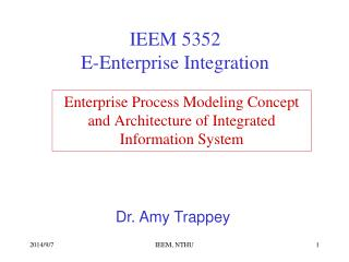 Enterprise Process Modeling Concept  and Architecture of Integrated Information System