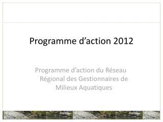 Programme d'action 2012