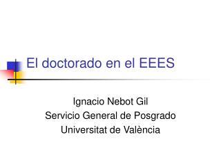 El doctorado en el EEES