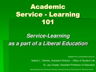 Academic  Service - Learning  101