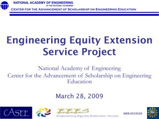 Engineering Equity Extension Service Project