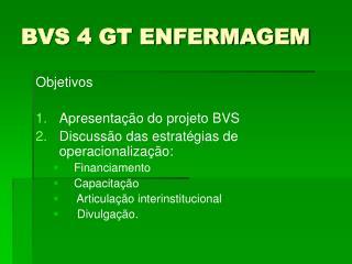 BVS 4 GT ENFERMAGEM