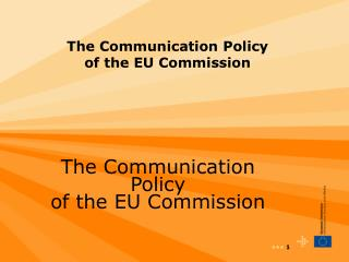 The Communication Policy of the EU Commission