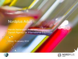 Nordplus Adult Henrik Neiiendam Andersen,  Danish Agency for International Education