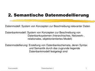 2. Semantische Datenmodellierung
