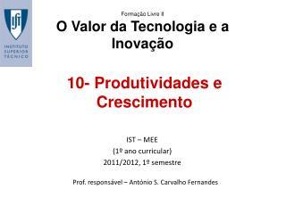 10- Produtividades e Crescimento