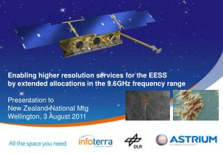 Extension of the allocation to EESS in the 9.5GHz range