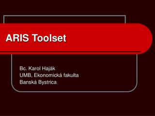 ARIS Toolset