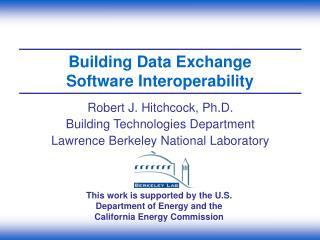 Building Data Exchange Software Interoperability